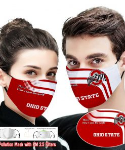 Ohio state buckeyes this is how i save the world full printing face mask 1