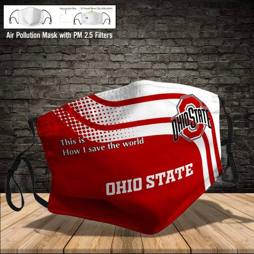 Ohio state buckeyes this is how i save the world full printing face mask 3