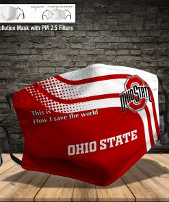 Ohio state buckeyes this is how i save the world full printing face mask 4