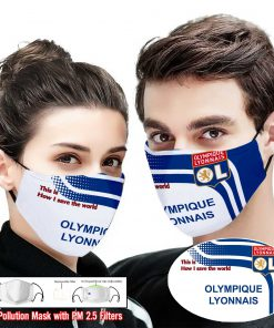 Olympique lyonnais this is how i save the world full printing face mask 2