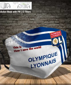 Olympique lyonnais this is how i save the world full printing face mask 4