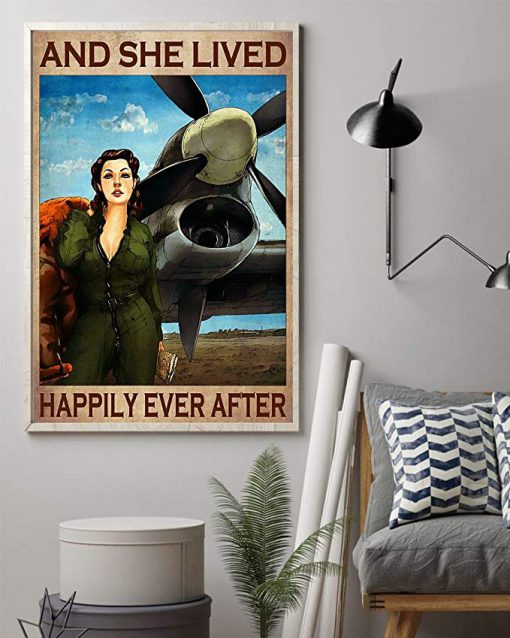 Pilot girl and she lived happily ever after poster 2