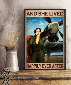 Pilot girl and she lived happily ever after poster