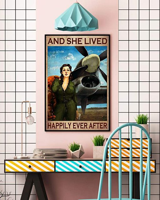Pilot girl and she lived happily ever after poster 3
