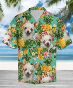 Pineapple chihuahua flower hawaiian shirt 4
