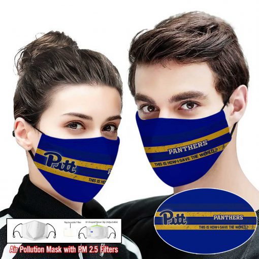 Pitt panthers this is how i save the world face mask 1