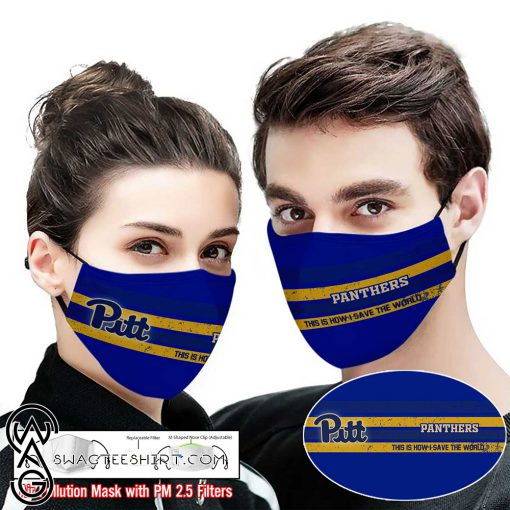 Pitt panthers this is how i save the world face mask