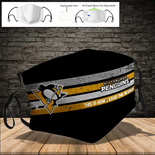 Pittsburgh penguins this is how i save the world face mask 4