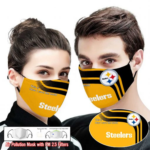 Pittsburgh steelers this is how i save the world full printing face mask 2
