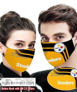 Pittsburgh steelers this is how i save the world full printing face mask