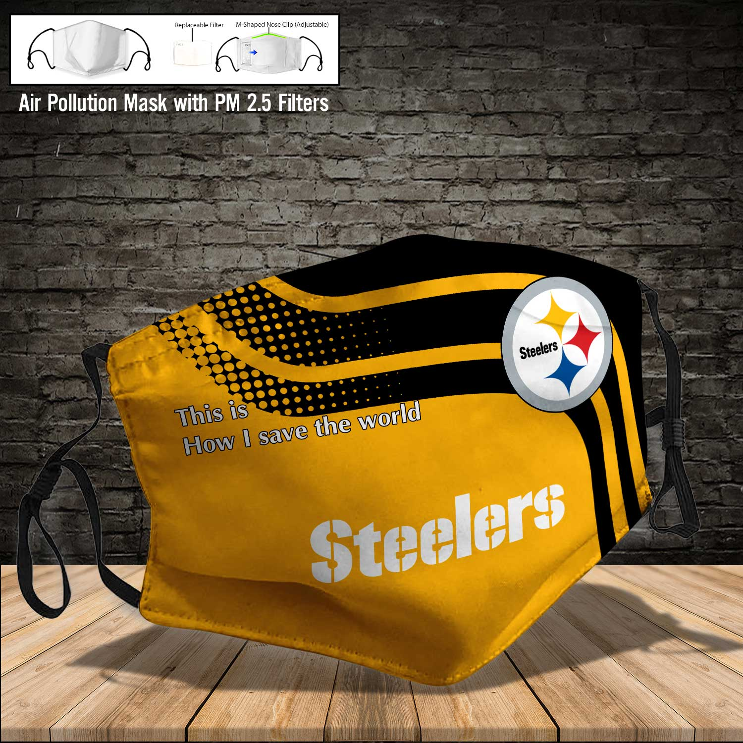 Pittsburgh steelers this is how i save the world full printing face mask 3