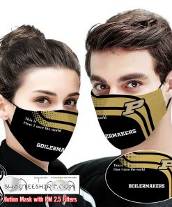 Purdue boilermakers this is how i save the world face mask