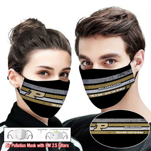 Purdue boilermakers this is how i save the world full printing face mask 2