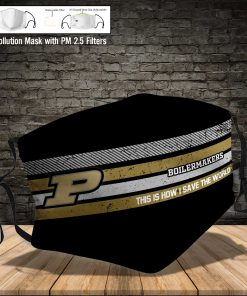 Purdue boilermakers this is how i save the world full printing face mask 4