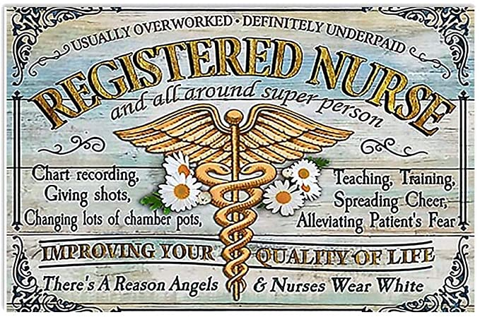 Registered nurse and all around super person poster 2