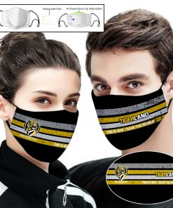 Richmond football club tigers this is how i save the world face mask 1