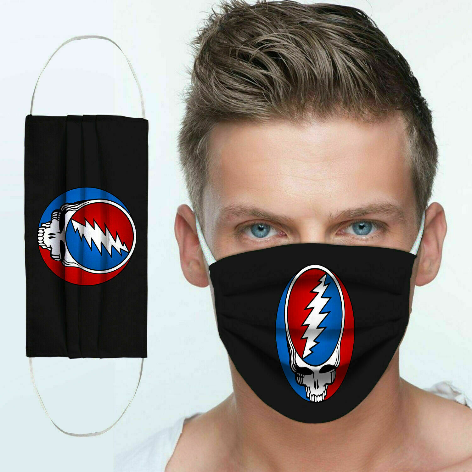 Rock band grateful dead anti pollution face mask 3