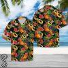 Rooster and fruits tropical hawaiian shirt