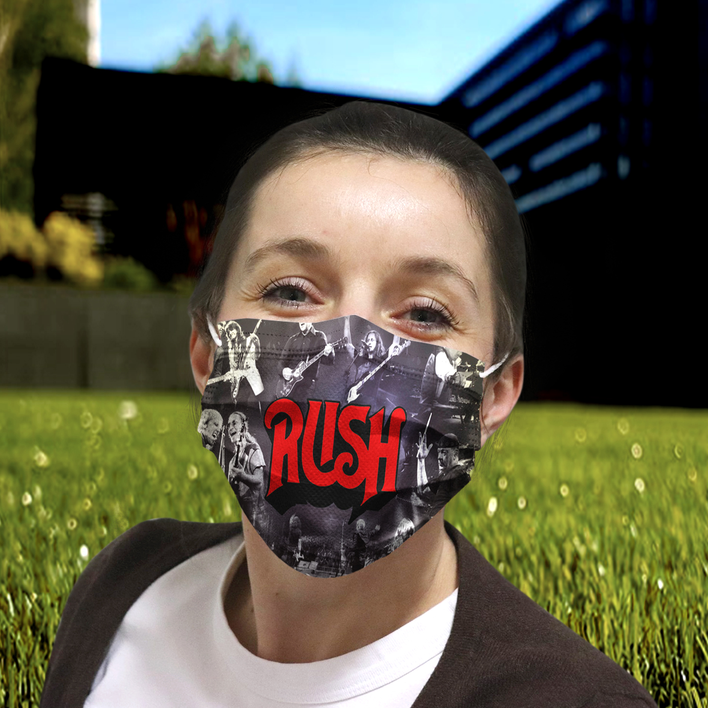 Rush rock band anti pollution face mask 4