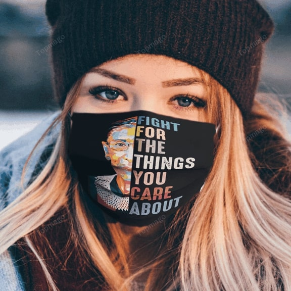 Ruth bader ginsburg fight for the things you care about anti pollution face mask 1