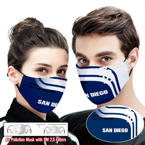 San diego padres this is how i save the world face mask 1