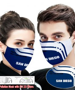 San diego padres this is how i save the world face mask 2