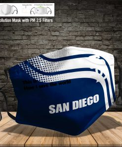 San diego padres this is how i save the world face mask 3