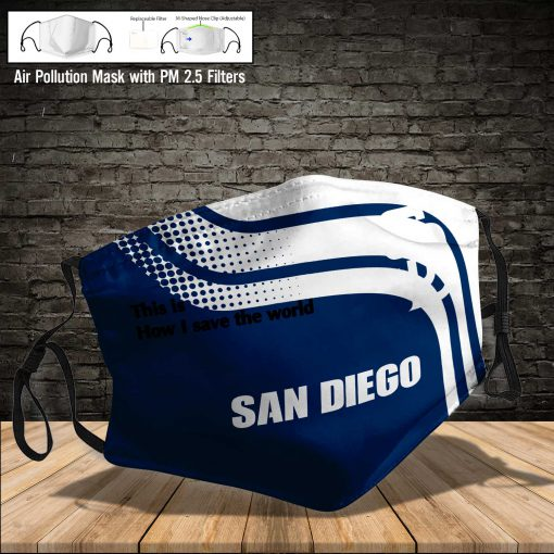 San diego padres this is how i save the world face mask 4