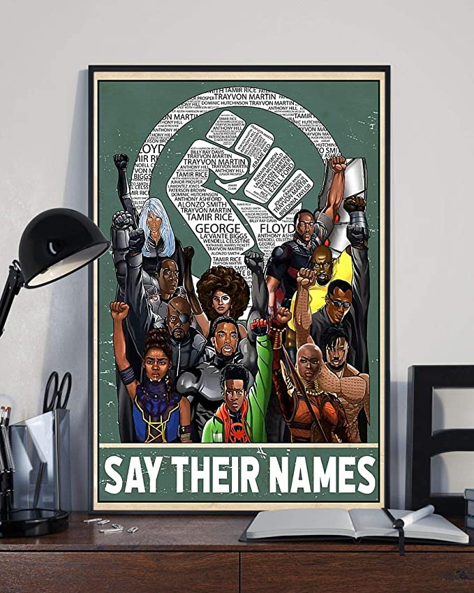 Say their names fist poster 2