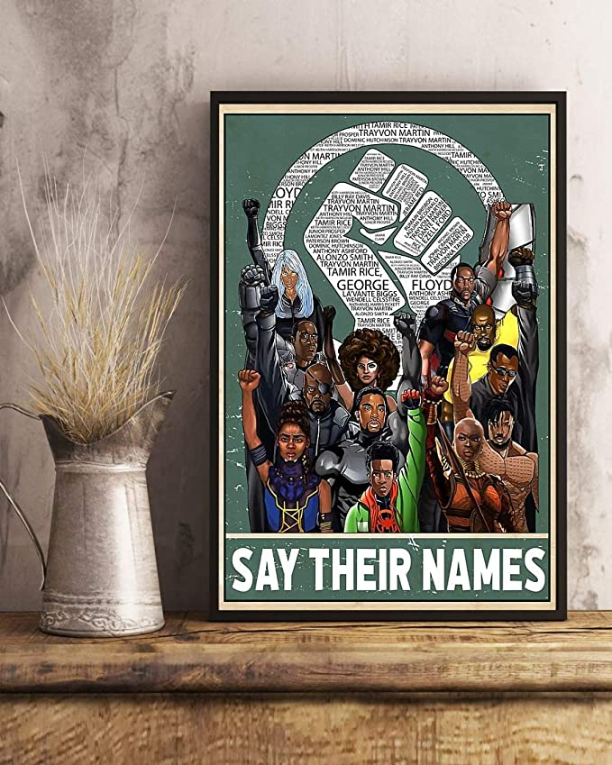 Say their names fist poster 3