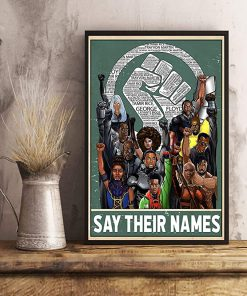 Say their names fist poster 4