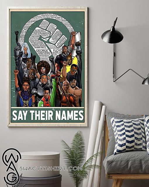 Say their names fist poster