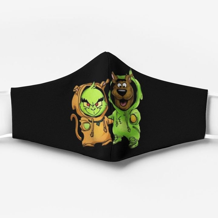 Scooby-doo and grinch friends christmas face mask 1