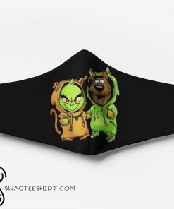Scooby-doo and grinch friends christmas face mask