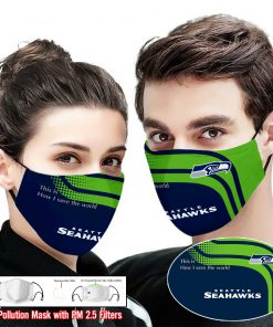 Seattle seahawks this is how i save the world full printing face mask 1