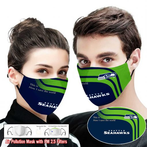 Seattle seahawks this is how i save the world full printing face mask 2