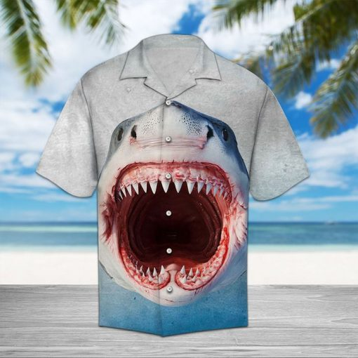 Shark face hawaiian shirt 1