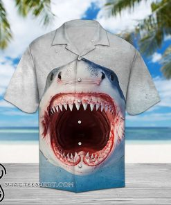 Shark face hawaiian shirt