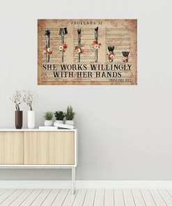 She works wiliingly with her hands makeup tools flowers dictionary poster 1