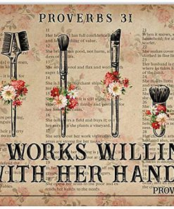 She works wiliingly with her hands makeup tools flowers dictionary poster 4