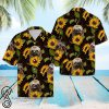 Sloth and sunflower hawaiian shirt