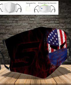 Snap on american flag skull full printing face mask 4