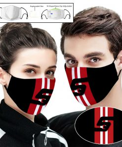 Snap on full printing face mask 1