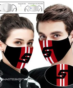 Snap on full printing face mask