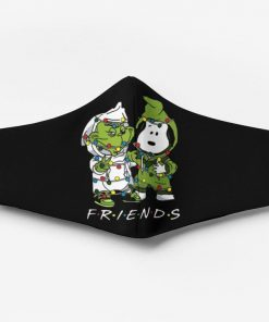 Snoopy and grinch friends christmas face mask 3