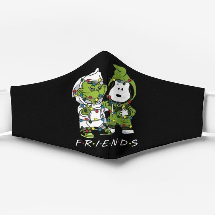 Snoopy and grinch friends christmas face mask 4