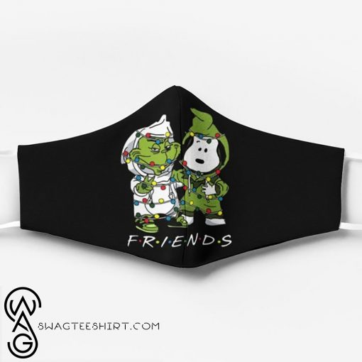 Snoopy and grinch friends christmas face mask