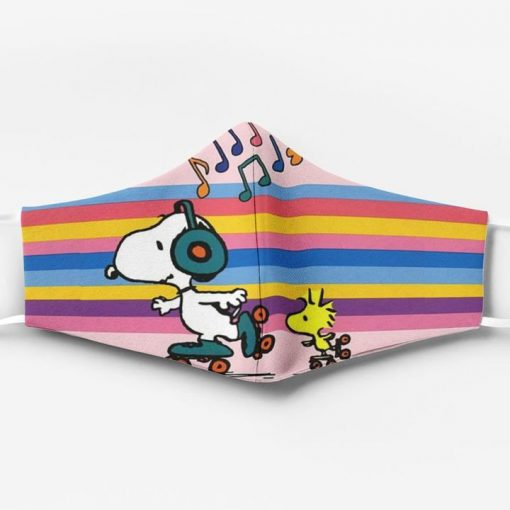 Snoopy and woodstock full printing face mask 1