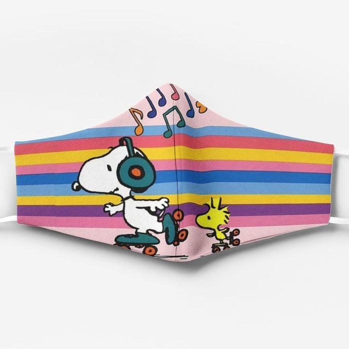 Snoopy and woodstock full printing face mask 2