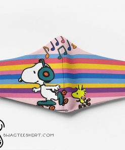 Snoopy and woodstock full printing face mask
